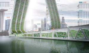 Ansicht der Floating Responsive Agriculture