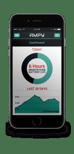 Ampy-App mit Batterieladung