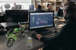 Arbeiten mit der HoloLense