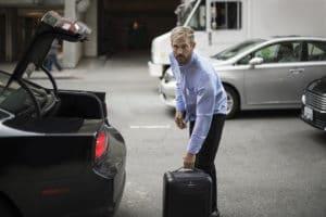 Der intelligente Koffer von BlueSmart im Alltagseinsatz (Foto: Bluesmart)