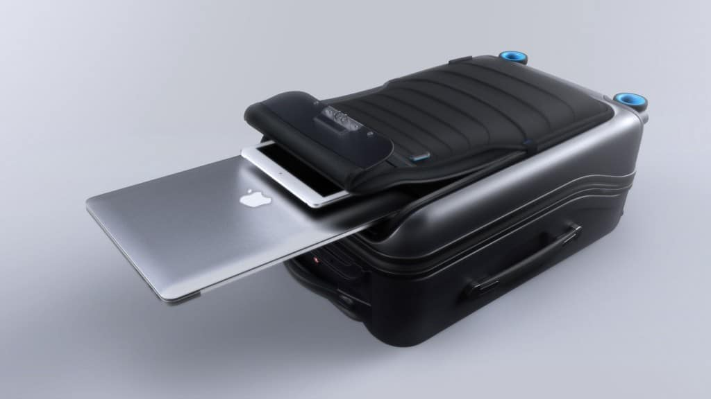 leicht zugängliches Bluesmart Laptop- Fach