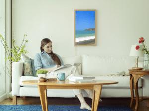 Das Atmoph Window an der Wohnzimmerwand