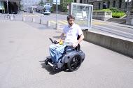 Scalevo Rollstuhl bei einer Testfahrt