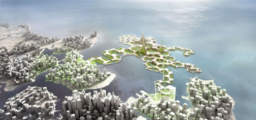 Rendering der Floating City (Bild: DeltaSync/ Blue21)