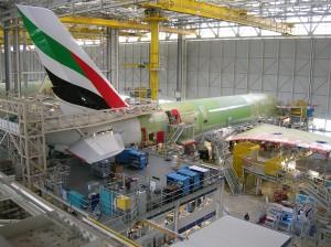 Montage eines Flugzeuges