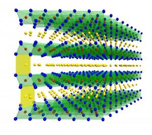 Schematische Struktur der hergestellten Schichtoxide. (Bild: KIT/HIU)