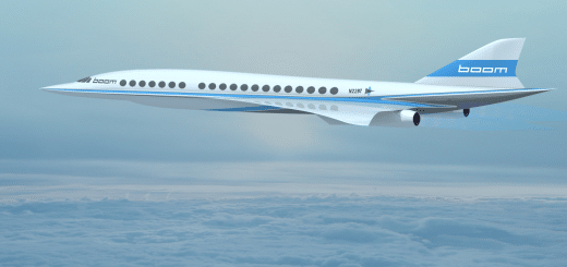 Konzept-Studie des Boom Überschall-Passagierflugzeugs (Bild: Boom)