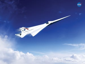 This is an artist's concept of a possible Low Boom Flight Demonstration Quiet Supersonic Transport (QueSST) X-plane design. The award of a preliminary design contract is the first step towards the possible return of supersonic passenger travel – but this time quieter and more affordable. (Bild: Lockheed Martin)