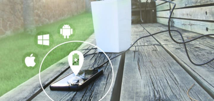 Smartphone laden mit dem Bioo Lite Blumentopf