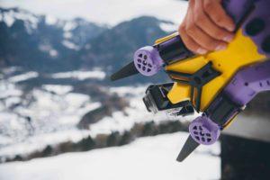 AirDog für den Transport zusammen geklappt (Bild: AirDog)